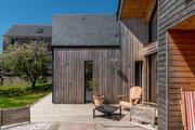 Photographie architecture - maison individuelle en bois à Baden - Morbihan - Reportage réalisé pour Archiblock