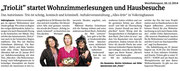 02.12.2014 Westfalenpost - TrioLit startet Wohnzimmerlesungen und Hausbesuche