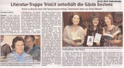 19.01.2015 Süderänder - Literatur-Truppe TrioLit unterhält Gäste bestens, Neuenrade
