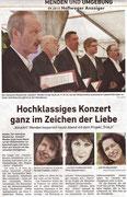 9-2015 Hellweger Anzeiger - Hochklassiges Konzert ganz im Zeichen der Liebe