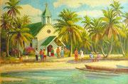 Dimanche aux Tuamotu (Anaa)  1997 40x60 HST