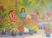 Marchandes de fleurs 40x50 HST