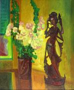 Danseuse au lotus et frangipanier HCT 61x51 1985