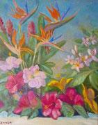 Fleurs exotiques 49x39 HST