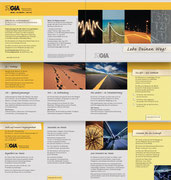 Innenseiten der Imagebroschüre für die GfA