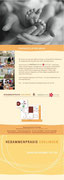 Konzept + Wording des Imagefolders für die HEBAMMENPRAXIS ESSLINGEN