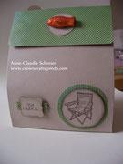 Zusätzlich wurde für die gleiche Person noch eine Verpackung für einen Gutschein gebraucht - Ausflug mit einem Angel-Scout
