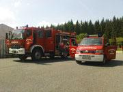 seit 2007 stockt  der Mannschaftstransportwagen (MTW) unseren Technikbestand auf und somit zählen beide Fahrzeuge zum aktuellen Stand                                                   Foto: B.Seidel