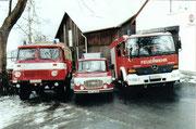 zur Übergabe des neuen Löschfahrzeuges im Jahr 2000,   LF 8/ TS, KLF B1001 , LF8/ 6                                                                       Foto: B.Seidel