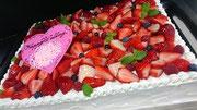 ウェディングケーキ、スクエア型。