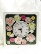 #フラワー時計#名古屋プリザーブドフラワー#プリフラ#プリザーブドフラワープレゼント#こだわりウェディング#ご両親への贈り物 参考価格¥15,000(税別)