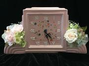 #置時計#名古屋プリザーブドフラワー#プリフラ#プリザーブドフラワープレゼント#こだわりウェディング#ご両親へのプレゼント  参考価格¥5,000(税別)