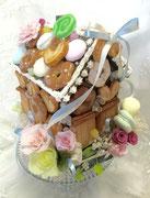 #お菓子の家#クリスマス#結婚式#名古屋プリザーブドフラワー#こだわりウェディング     参考価格¥18,000(税別)