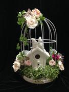 #鳥かご#プレ花嫁#手作りウェディング#結婚式#名古屋プリザーブドフラワー#こだわりウェディング  参考価格¥18,000(税別)