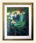 Dame im Blätterwald