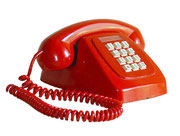 TELEFONO DE SOBREMESA MODELO HERALDO ROJO BOTONES BLANCOS / REF: TLF- 006/ 1 Unidad / Arriendo: $ 10.000  / Garantía: $ 40.000