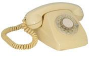 TELEFONO HERALDO DE SOBREMESA AMARILLO / REF: TLF- 011 / 1 Unidad / Arriendo: $ 8.000  / Garantía: $ 40.000