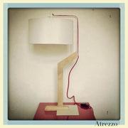 Lámparas Madera y metal blanco/ REF: LAMP- 015 / 60 cms / 2 unidades / Arriendo: $ 13.000 c/u / Garantía: $ 30.000 c/u