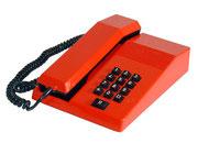TELEFONO SOBREMESA ROJO BOTONES NEGROS / REF: TLF- 009 / 1 Unidad / Arriendo: $ 8.000  / Garantía: $ 40.000