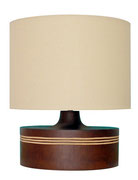 Lámpara sobremesa madera redonda / REF: LAMP- 009/ 30 cm. base/ 2 unidades / Arriendo: $ 12.000  c/u/ Garantiía: $ 25.000  c/u