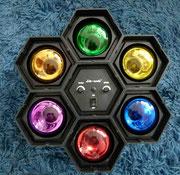 Luces Fiesta Colores (puede ir intermitente o al ritmo de la musica) / REF: LAMP-023 / 40 cms. diametro / 1 Unidad / Arriendo: $ 7.000 / Garantía: $ 20.000
