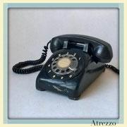 TELEFONO SOBREMESA RETRO NEGRO DE DISCO / REF: TLF- 023 / 1 Unidad / Arriendo: $ 8.000  / Garantía: $ 40.000