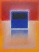 Blaues Quadrat (92x120 cm)