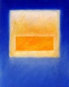 Gelb auf Blau (88x111 cm)
