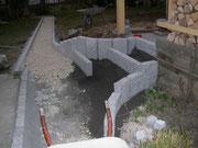 Stelen und Granitleistensteine in Vorbereitung