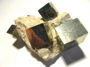Pirite cubica su matrice (Navajun,Spagna)