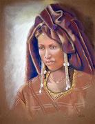 Peule woodabe -pastel 65x50-