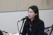 メインパーソナリティーの岡根 安里(おかね あんり)さん。第74回放送で特集したミスインターナショナルファイナリストです。