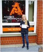 Ann Kristin Prankl hat ihren B-Führerschein seit dem 08.07.16!
