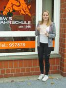 Clara Könnemann hat ihren B Führerschein seit dem 28.10.16