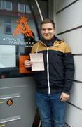 Paul Pukropski hat seinen B Führerschein seit dem 16.03.2018