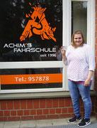 Daniela Fricke hat ihren B Führerschein seit dem 10.05.2017