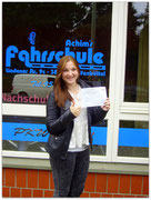 Josephine Bitterlich hat ihren B-Führerschein seit dem 02.10.2014!