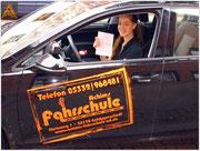 Alicia Franke hat ihren B-Führerschein seit dem 20.08.15!