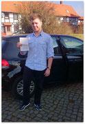 Jan Huismann hat seinen B-Führerschein seit dem 09.03.15!
