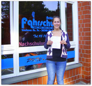 Natalie Stautmeister hat ihren B-Führerschein seit dem 14.08.14!