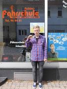 Franziska Schlüter hat ihren B-Führerschein seit dem 09.08.13!