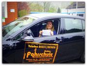 Janina Fenske-Stägemann hat ihren B-Führerschein seit dem 04.04.14!