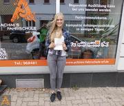 Charlotte Thiemann hat ihren B-Führerschein seit dem 05.08.16!