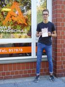 Jannis Halm hat seinen B-Führerschein seit dem 19.10.2018!