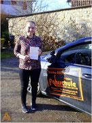Tina Wehr-Paulus hat ihren B-Führerschein seit dem 03.02.16!