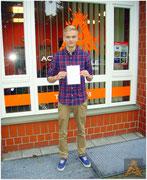 Robert Felix Leue hat seinen B-Führerschein seit dem 08.10.15!