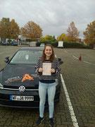 Finja Banick hat ihren B Führerschein seit dem 26.10.2020!