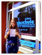 Julia Heinrich hat ihren B-Führerschein seit dem 04.07.14!