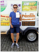 Paul Hindricks hat seinen BE-Führerschein seit dem 08.08.14!