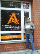 Arian Avdija hat seinen B Führerschein seit dem 15.11.2018
